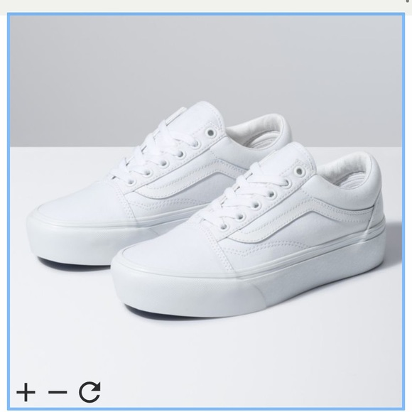 Like,New Old Skool White Leather Vans